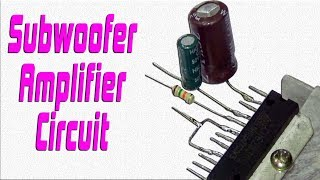 How To Make Subwoofer Amplifier Circuit At Home Easily