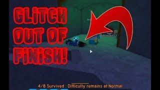 How to glitch out of the finish l Roblox Flood Escape 2