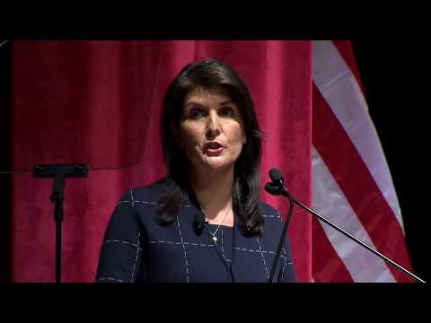 U.S. Ambassador to the U.N. Nikki R. Haley in conversation with David Axelrod