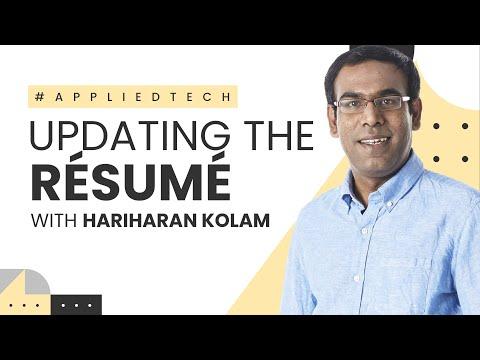 Updating the Résumé | Hariharan Kolam from Findem