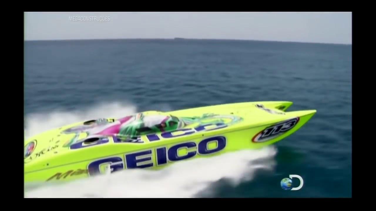 Megaconstruções Barcos de Corrida Dublado Documentário Discovery Channel HD