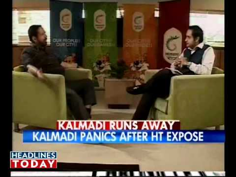 Kalmadi walks out of TV interview. Part 2 of 8