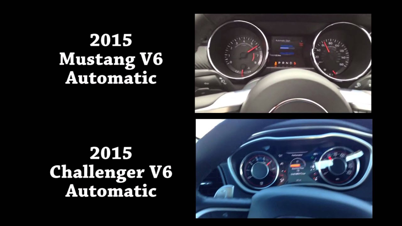 2015 Mustang V6 vs 2015 Challenger V6 0 60 Acceleration BASE MODEL