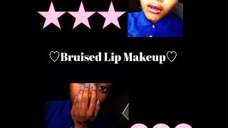 Bruised Lip Makeup! Thumbnail