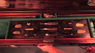 George Iii Mahogany Gun Collector's Chest