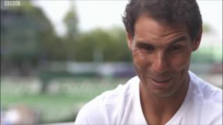 Rafael Nadal Interview for BBC Sport after R3 at Wimbledon 2017