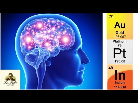 Minerals for the Brain Health: Platinum, Indium and Gold