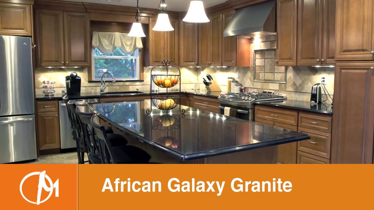 African Galaxy Granite Kitchen Countertops Youtube