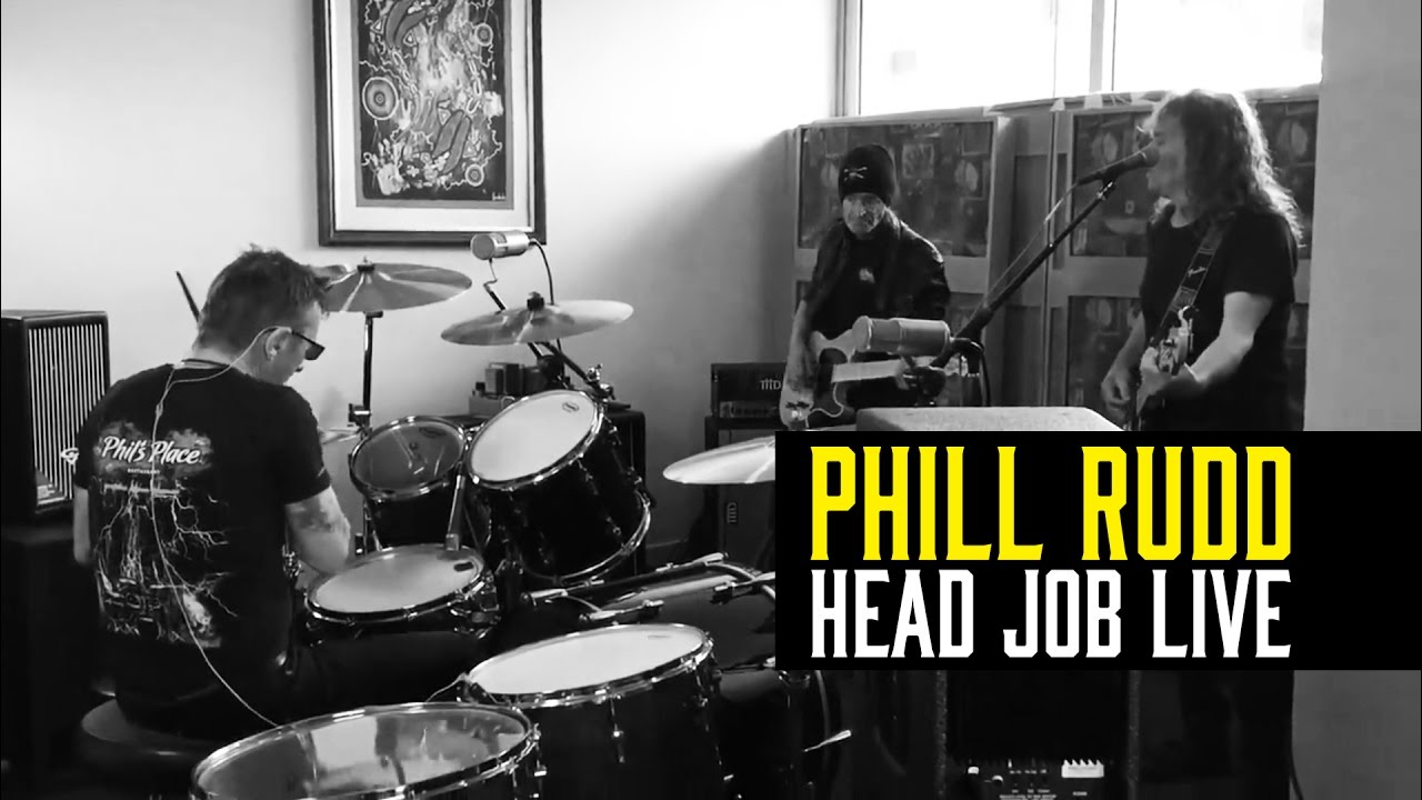 Phil Rudd with his band playing Head Job (Live Session) - YouTube