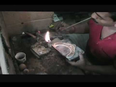 Gold Jewelry making skill of India