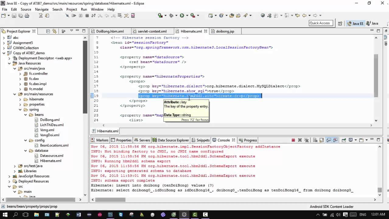 Example Spring MVC + Hibernate + Maven