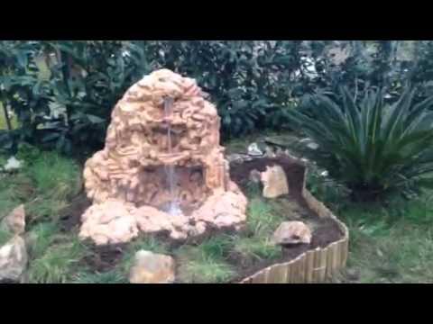 Cascata Giardino Fai Da Te : Cascata fai da te in polistirolo youtube