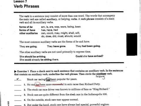 Helping verb worksheet 3