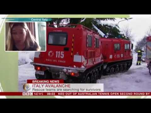 Italy avalanche 'Many dead' found in hotel hit by avalanche