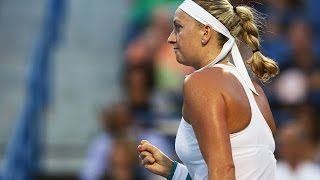 2016 Connecticut Open Second Round   Petra Kvitova vs Genie Bouchard   WTA Highlights