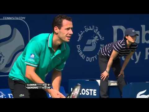 ATP 2011 Dubai R1 Novak Djokovic vs Michael Llodra highlights [HD]