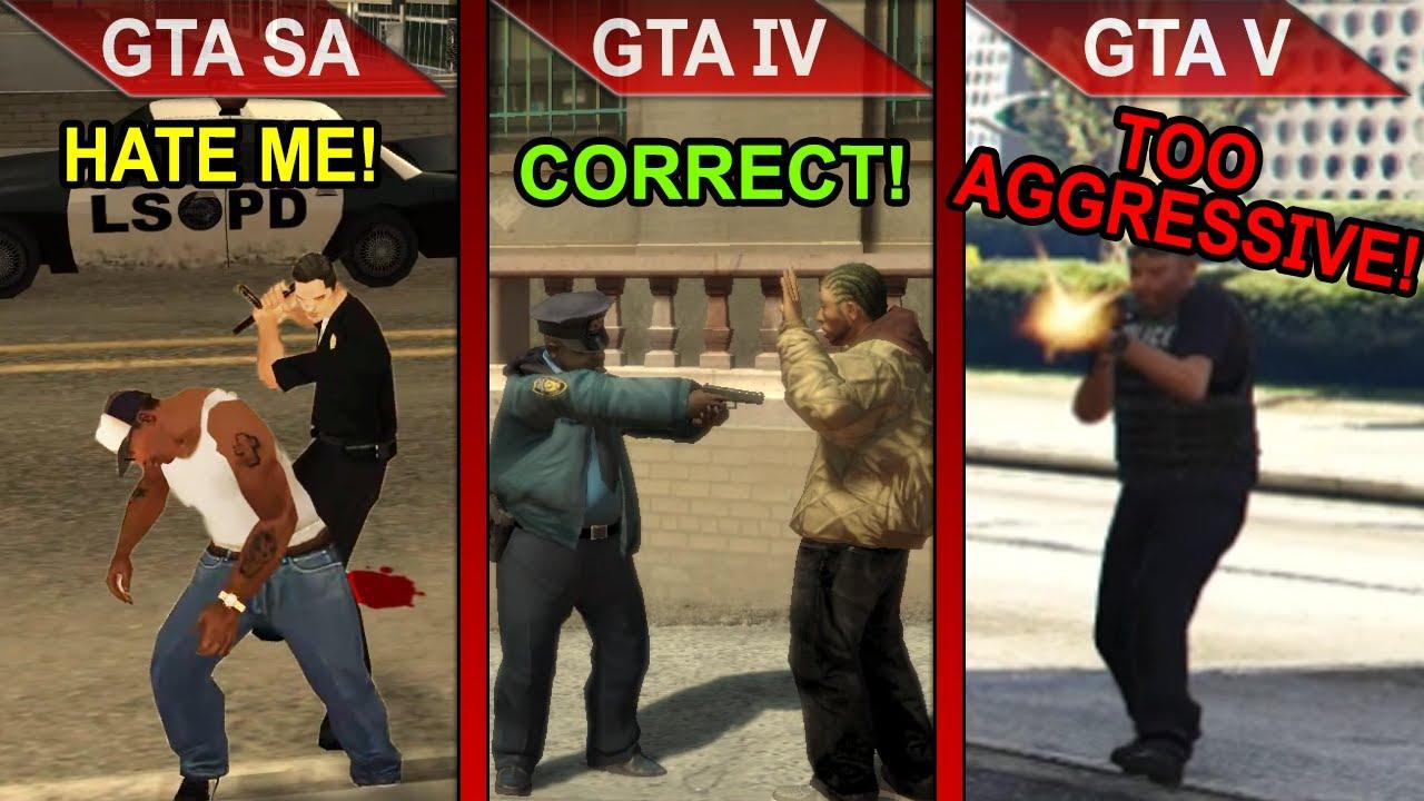 COPS LOGIC COMPARISON | GTA SA vs. GTA IV vs. GTA V | PC | ULTRA