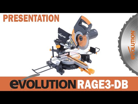 présentation scie à onglet radiale multi-usages tct 255mm