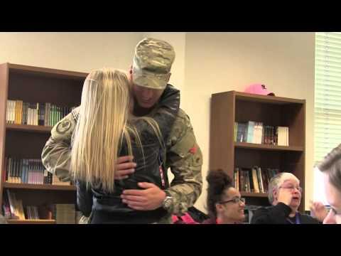 Returning PA National Guardsman surprises his sister at school