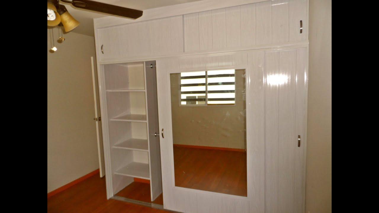 Closet De Pvc Corredizo Reforzado Con Pared Falsa De Pvc