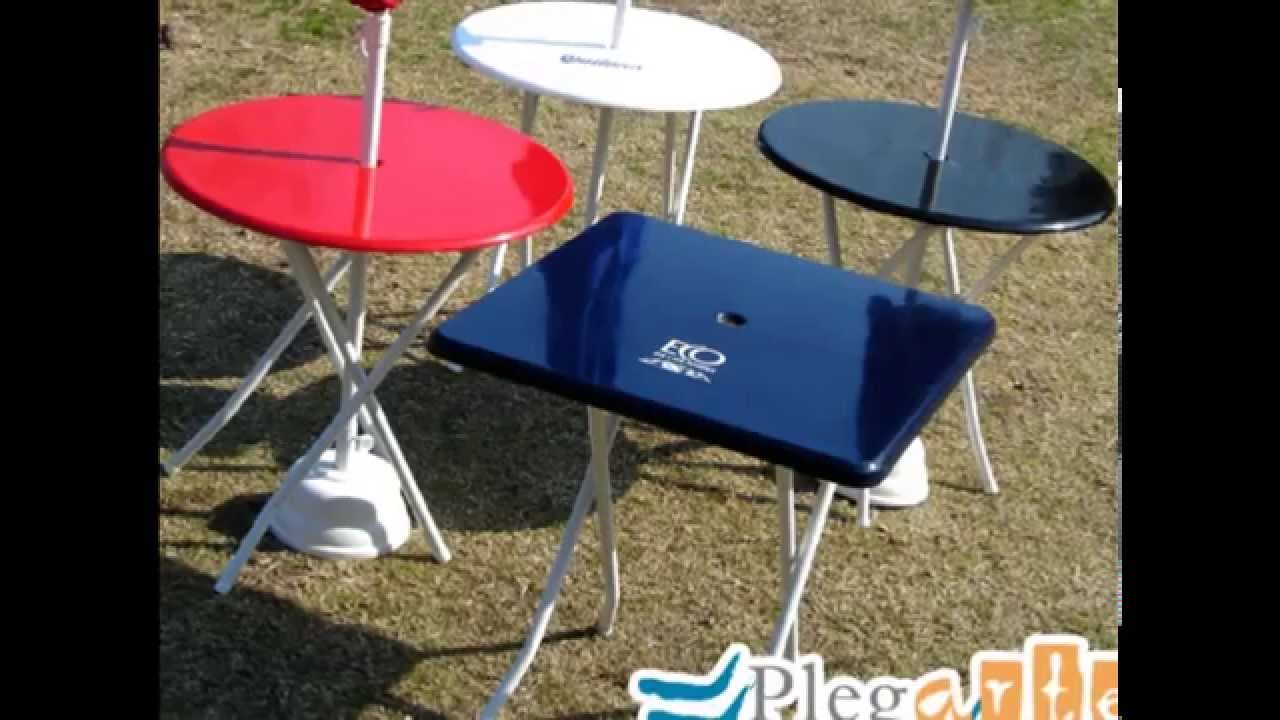 Mesas plegables f brica de mesa plegable youtube for Mesas supletorias plegables
