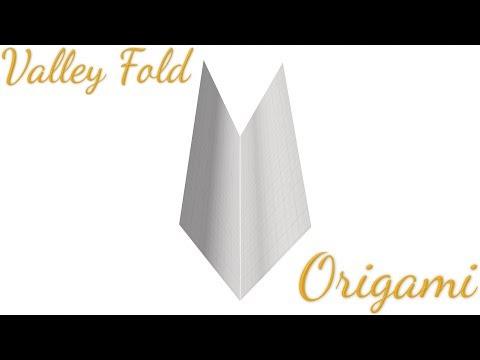 Valley-Fold Tutorial (Origami Folding Technique) - YouTube