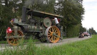 (UHD/ 4K) Strassendampf Münsingen Schweiz 2014/ Road Steam! thumbnail