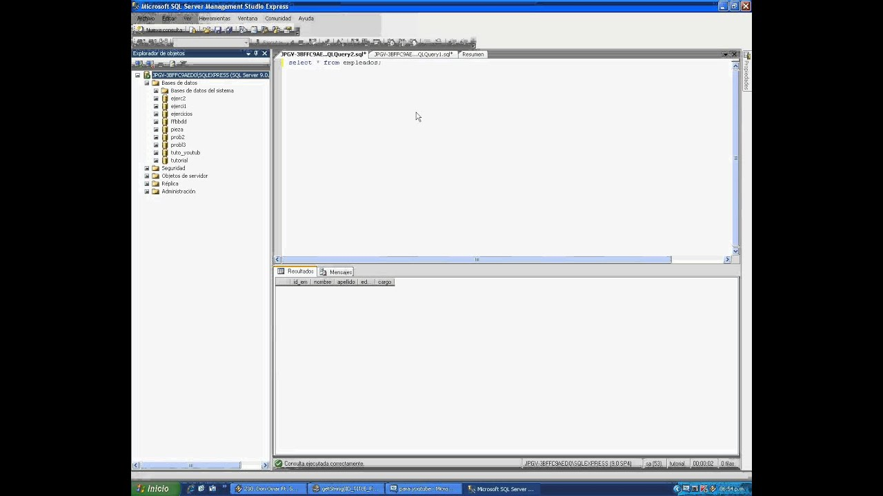 conectando visual basic 2010 a sqlserver 2005 youtube