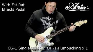 Aria  714 with Proco Fat Rat  guitar demonstration
