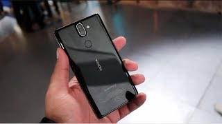 Nokia 8 Sirocco Hands on, Camera, Features, Price, India [MWC 2018]
