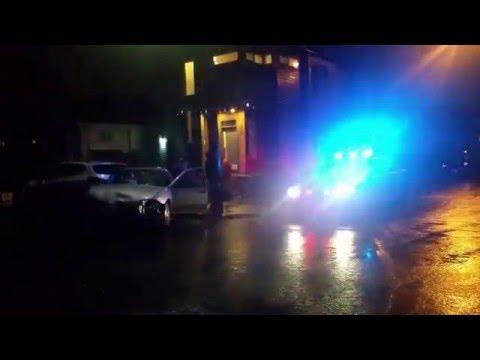 uninsured lady causes four car crash