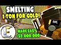 Smelting 1 Ton Of Gold - Gmod DarkRP Life (Mining Gold, Ton Of Gold Ingots Sell For Huge Profits)