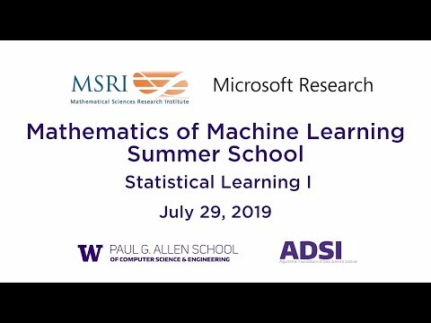 Statistical Learning I Robert Schapire Microsoft Research