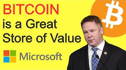 Congressman Says BITCOIN is a Great Store of Value - Microsoft Launches ION on Bitcoin Mainnet