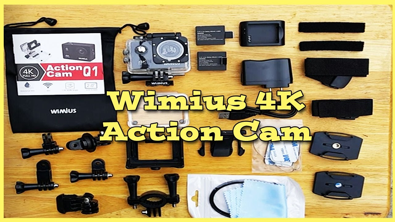 Action Camera 14-in-1 Accessories Bundle W// Case for WiMiUS Q1 4K WiFi