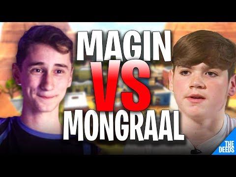 Secret Mongraal 1 VS 1 Atlantis Magin   Fortnite Playground