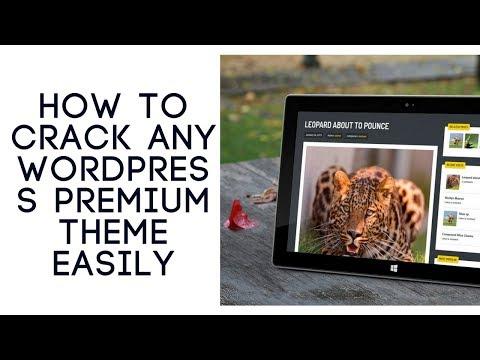 HOW TO CRACK ANY WORDPRESS PREMIUM THEME EASILY - YouTube