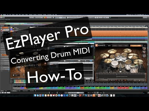 EZPlayer Pro Converting Drum Midi How-To