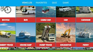 Let's Play • Vehicle Sounds • For Children, Learn Cars Sound,  Construction, Video, Games For Kids