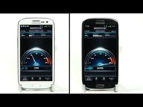 Samsung Galaxy S3 4G LTE Speed Test vs 3G EE UK