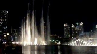 Fountain show Borj Khalifa 2016