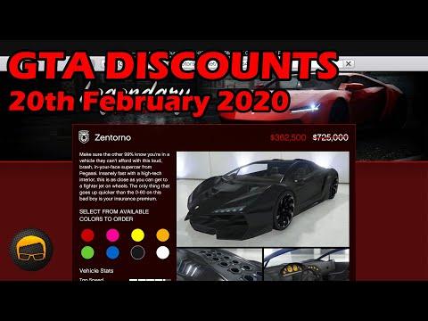 GTA Online Best Vehicle Discounts (20th February 2020) - GTA 5 Weekly Car Sales Guide #26