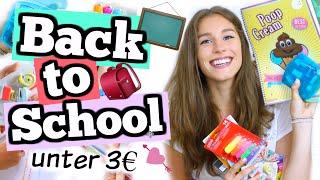 BACK TO SCHOOL alles aus dem 1€ LADEN Haul! ♡ BarbieLovesLipsticks