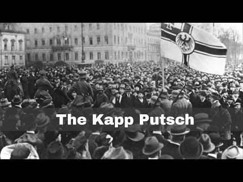 13th March 1920: Start Of The Kapp Putsch In Berlin