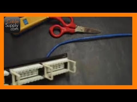 How to punch down a 24port patch panel - YouTube