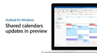 Preview new shared calendars updates in Outlook for Windows