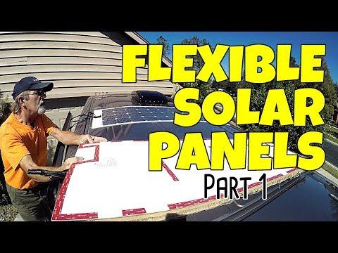 ETFE Flexible Solar Panel Installation - Part 1