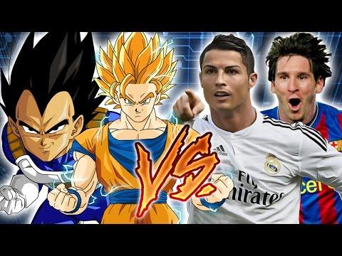 Super Saiyan Goku & Vegeta vs. Christiano Ronaldo & Lionel Messi (Dragon Ball Z vs. FIFA)