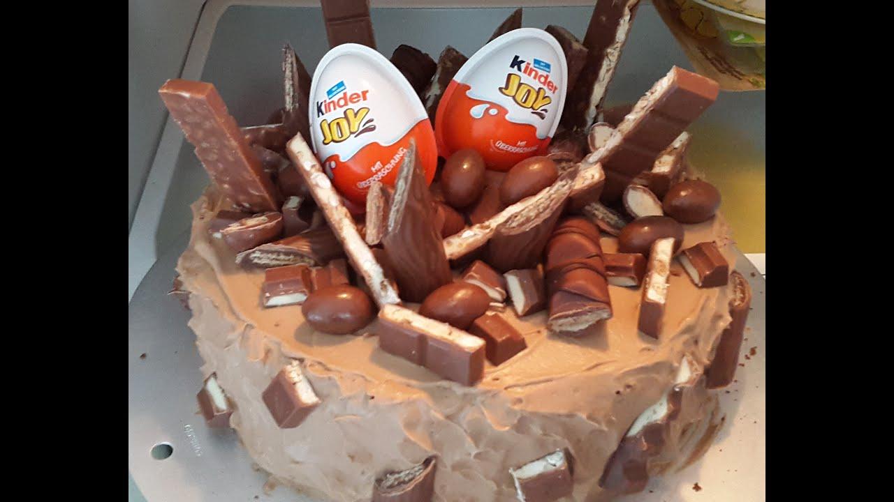 Kinder SchokoladeSigkeitentorteSchokosahneTorte  YouTube