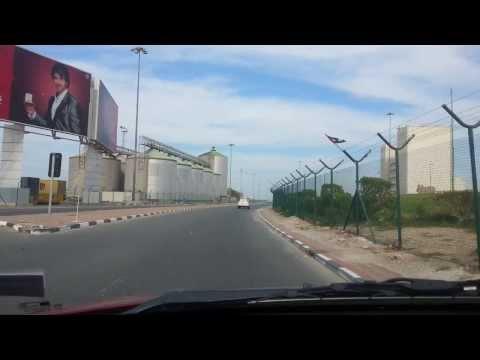 Driving in Port Rashid Dubai. 28.11.2013